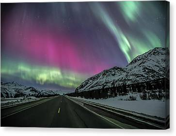 Aurora Road 2 Canvas Print by Sam Amato