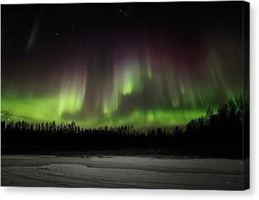 Aurora Wall Canvas Print by Ed Boudreau