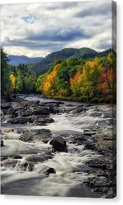 Canvas Print featuring the photograph Ausable River Jay Ny by Mark Papke