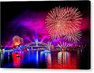 Aussie Celebrations Canvas Print by Az Jackson