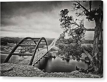 Austin 360 Bridge In Early Dawn Canvas Print