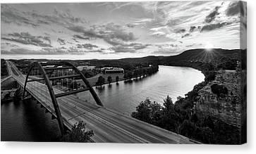 Austin 360 Pennybacker Bridge Sunset Canvas Print by Todd Aaron