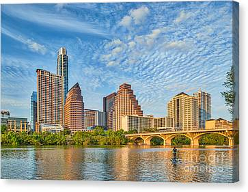 Austin City View Canvas Print by Tod and Cynthia Grubbs