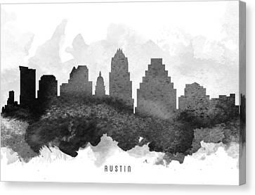 Austin Cityscape 11 Canvas Print by Aged Pixel