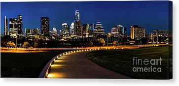 Austin Skyline Canvas Print - Austin From Long Center Pano by Tod and Cynthia Grubbs