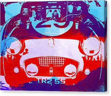 Austin Healey Bugeye Canvas Print by Naxart Studio