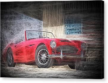 Austin Healey Chalk Study 4 Canvas Print