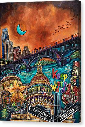 Austin Keeping It Weird Canvas Print by Patti Schermerhorn