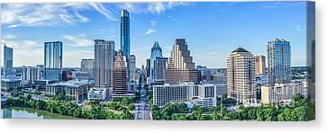 Austin Panorama Skyline Canvas Print by Tod and Cynthia Grubbs