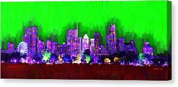Austin Skyline 152 - Da Canvas Print by Leonardo Digenio