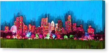 Austin Skyline 153 - Pa Canvas Print