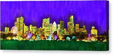 Austin Skyline 154 - Da Canvas Print by Leonardo Digenio
