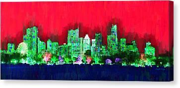 Austin Skyline 156 - Da Canvas Print