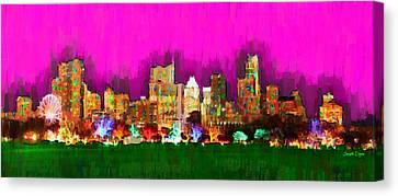 Austin Skyline 159 - Pa Canvas Print by Leonardo Digenio