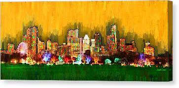 Austin Skyline 161 - Pa Canvas Print by Leonardo Digenio