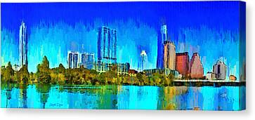 Austin Skyline 301 - Pa Canvas Print by Leonardo Digenio
