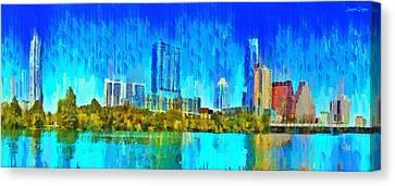 Austin Skyline 310 - Da Canvas Print by Leonardo Digenio
