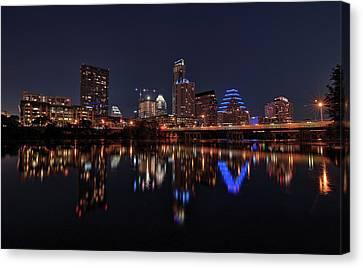 Austin Skyline At Night Canvas Print