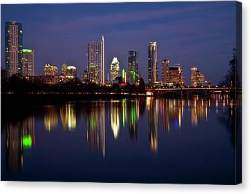 Night-scape Canvas Print - Austin Skyline by Mark Weaver