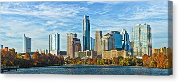 Austin Skyline Canvas Print - Austin Skyline Panorama by Tod and Cynthia Grubbs
