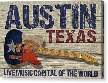 Austin Texas 2 Canvas Print by WB Johnston