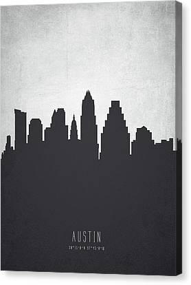 Austin Texas Cityscape 19 Canvas Print by Aged Pixel