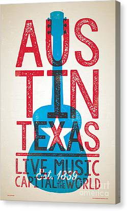 Austin Texas - Live Music Canvas Print by Jim Zahniser