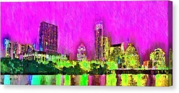 Austin Texas Skyline 105 - Da Canvas Print
