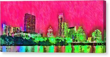 Austin Texas Skyline 106 - Da Canvas Print