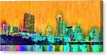 Austin Texas Skyline 108 - Da Canvas Print