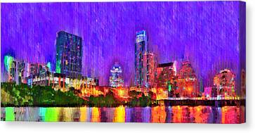 Austin Texas Skyline 110 - Da Canvas Print by Leonardo Digenio