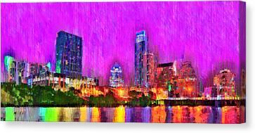 United States Of America Canvas Print - Austin Texas Skyline 111 - Pa by Leonardo Digenio