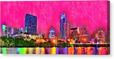 Austin Texas Skyline 112 - Pa Canvas Print by Leonardo Digenio