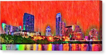 Austin Texas Skyline 113 - Da Canvas Print by Leonardo Digenio