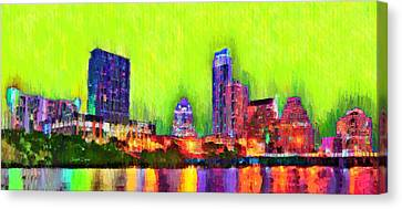 Austin Texas Skyline 115 - Pa Canvas Print