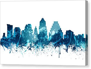 Austin Texas Skyline 19 Canvas Print by Aged Pixel
