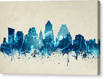 Austin Texas Skyline 20 Canvas Print by Aged Pixel