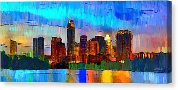 Austin Texas Skyline 200 - Da Canvas Print by Leonardo Digenio