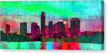 Austin Texas Skyline 203 - Da Canvas Print by Leonardo Digenio