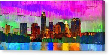 Austin Texas Skyline 209 - Da Canvas Print by Leonardo Digenio