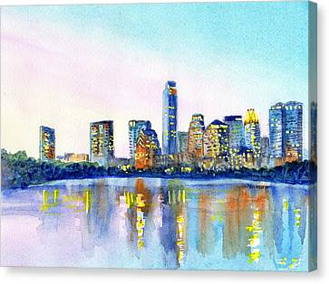 Austin Texas Skyline Canvas Print by Carlin Blahnik