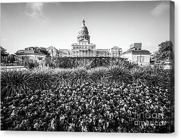 Austin Texas State Capitol Building Black And White Photo Canvas Print by Paul Velgos