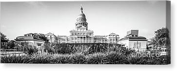 Austin Texas State Capitol Building Panorama Canvas Print by Paul Velgos