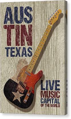 Austin Texas Canvas Print by WB Johnston
