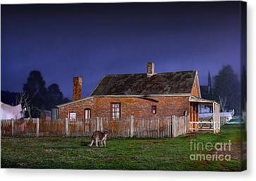 Australia By Night Canvas Print by Russ Brown