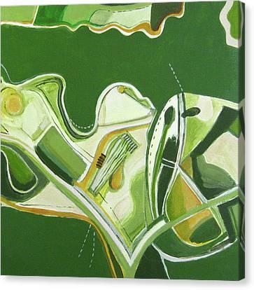 Australia Industrial Canvas Print by Toni Silber-Delerive