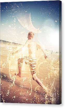Australian Beach Fun Canvas Print