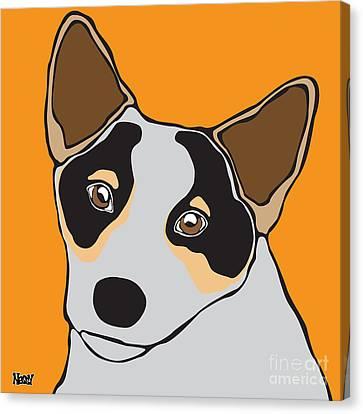 Australian Cattle Dog Canvas Print by Ness Lau