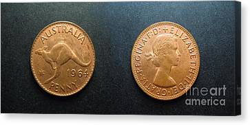 Australian Coins  Canvas Print by Geoff Childs