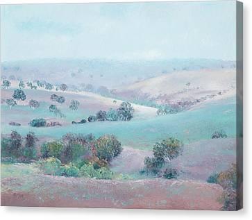 Australian Country Landscape Painting Canvas Print by Jan Matson